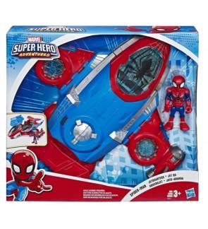 Hasbro Playskool Heroes Marvel Super Hero Adventures Spider-Man Jetquarters
