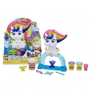 HASBRO Play-Doh Tootie the Unicorn Ice Cream Toy Set with 3 Non-Toxic Color Doh Cans Fun Activities