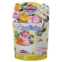 Hasbro Play-Doh Rollzies Rolled Ice Cream Set with 9 Non-Toxic Color Compound Kitchen Creations