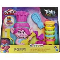 HASBRO Play-Doh Trolls World Tour Rainbow Hair Poppy Styling Toy Playset For Boys and Girls