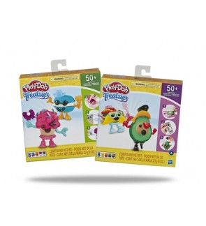 Hasbro Play-Doh Treatsies Perfect Pairing Sweet Characters-Bundle of 2 Packs (Taco & Avocado / Cupcake & Macaroons)
