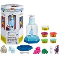 Hasbro Play-Doh Disney Frozen 2 Elsa's Adventure Snow Globe Playset Play Doh with 5 Non-Toxic Colors (Playdoh Elsa)