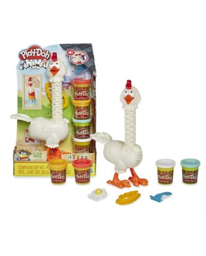 Hasbro Play-Doh Animal Crew Cluck-a-Dee Feather Fun Chicken Farm Animal Playset