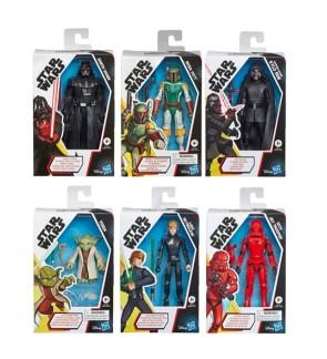 Hasbro Star Wars Galaxy of Adventures Figure Assorted-Darth Vader, Yoda, Kylo Ren, Luke Skywalker, Boba Fett