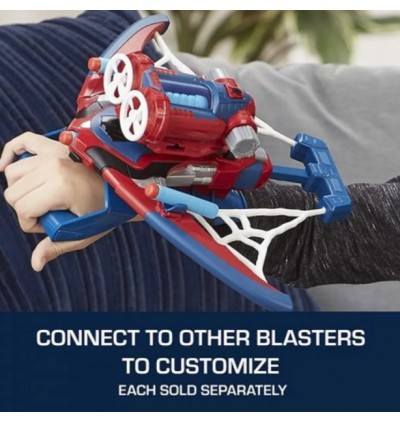 Hasbro Spider-Man Web Shots Twist Strike Blaster Toy