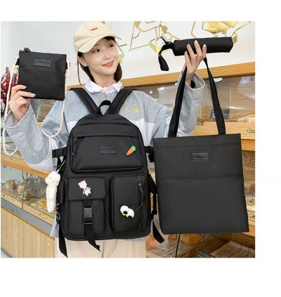 TonyaMall 4 Pieces Mix and Match Ulzzang Korean Style Backpack Set