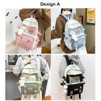 TonyaMall Korean Series Ins College School Backpack Bag (Ulzzang)