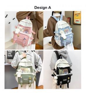 TonyaMall Korean Series Ins College School Backpack Bag (Ulzzang)