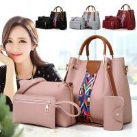 TonyaMall 4 in 1 Bohemia Ladies Handbag Set