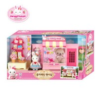 Original Korea Konggi Rabbit Fancy Gift Doll Stationery Shop Store Dollhouse Roleplay Playset