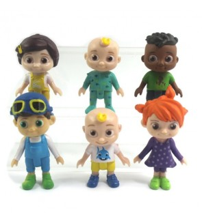 Cocomelon Family and Friend 6 Pack JJ Figure Play Set Toy Miniatures Cake Topper Figurines Set