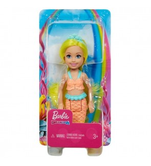 Mattel Barbie Dreamtopia Chelsea Mermaid Doll, 6.5-inch with Yellow Hair and Tail (GJJ85)