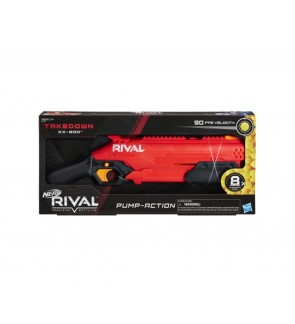 Nerf Rival Takedown XX-800 Blaster- Pump Action Breech-Load, 8-Round Capacity