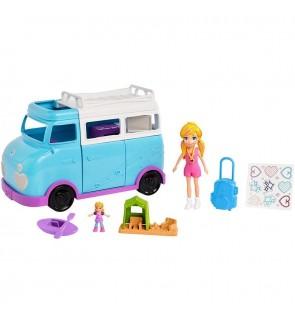 Mattel Polly Pocket Glamping Van Girls Toys Set