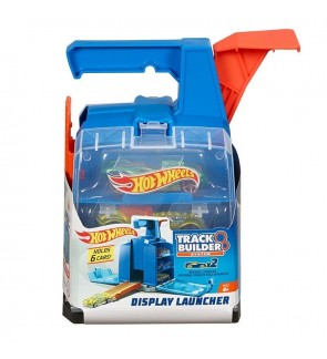 Hot Wheels Track Builder Display Launcher With Storage Box