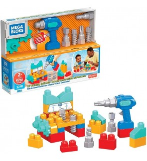 Mega Bloks Lil' Building Drill Set Ideal For Age 1 and above