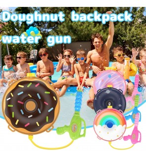 Kids Donuts Water Blaster Backpack Fun Outdoor Activities Fun Family Game
