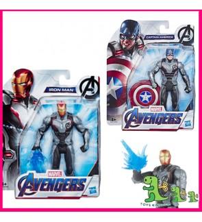 Hasbro Marvel Avengers: Endgame Team Suit Ironman & Captain America 15-Cm-Scale Figure