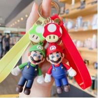 Super Mario Cute Keychain Bag Keychain With Tag and Cartoons