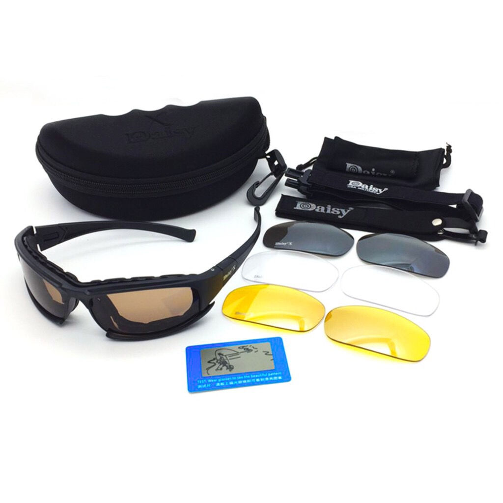 Sharifahonline New Arrival Emas 05 Gran 4 Lenses Uv Protection Polarized Tactical Sunglasses With Tightening Strap