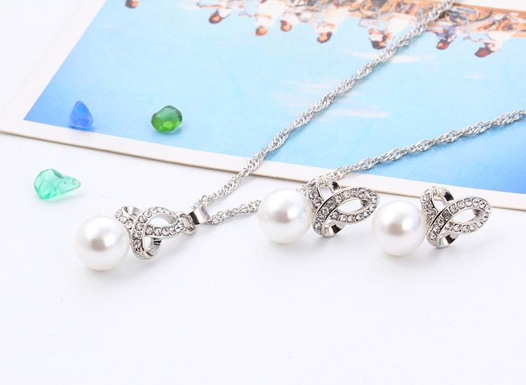 Rachelle & Co Pearl Necklace & Earring Set ( Design 4)